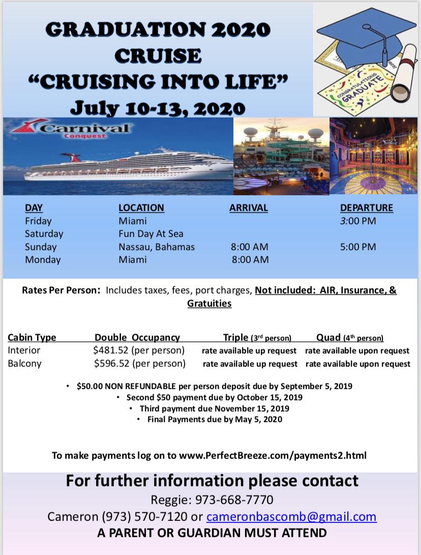 Graduation Day 2020.Graduation Cruise 2020 Perfect Breeze Travel